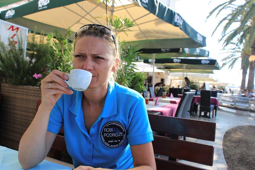 kawa w Trogirze