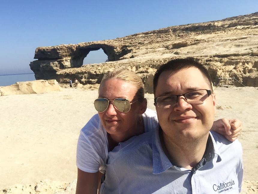 RobiMy Podróże na Azure Window na Malcie