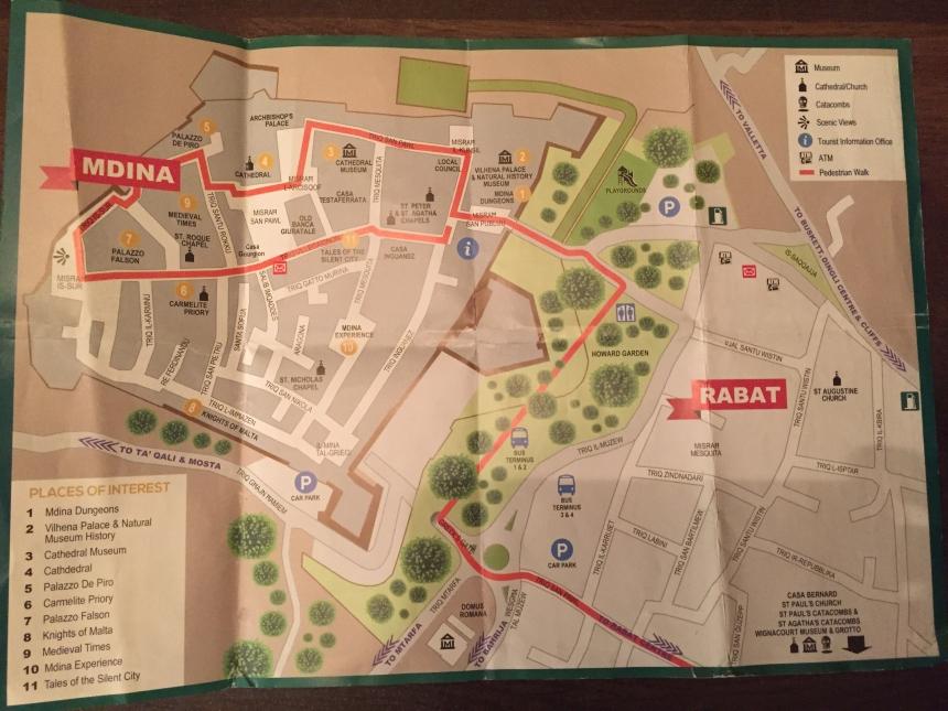 mapa Mdiny