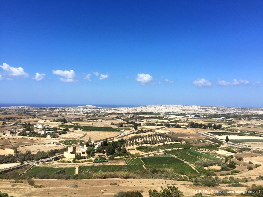 widok z murów Mdiny