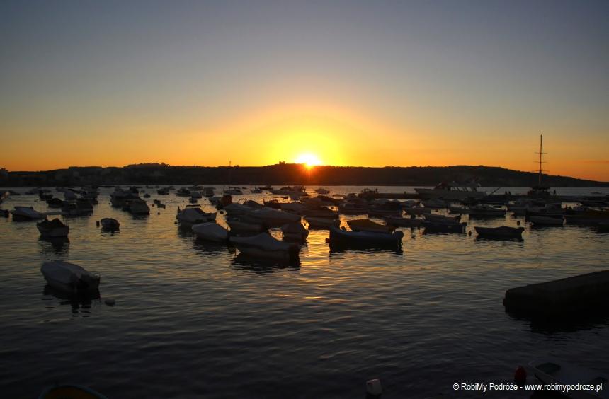zachód słońca w Zatoce św. Pawła
