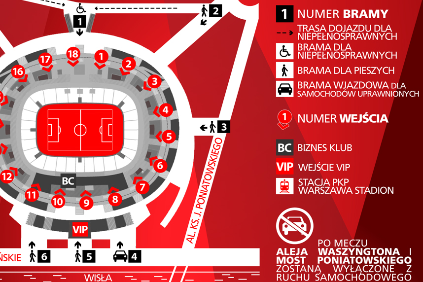 mapka Stadion Narodowy