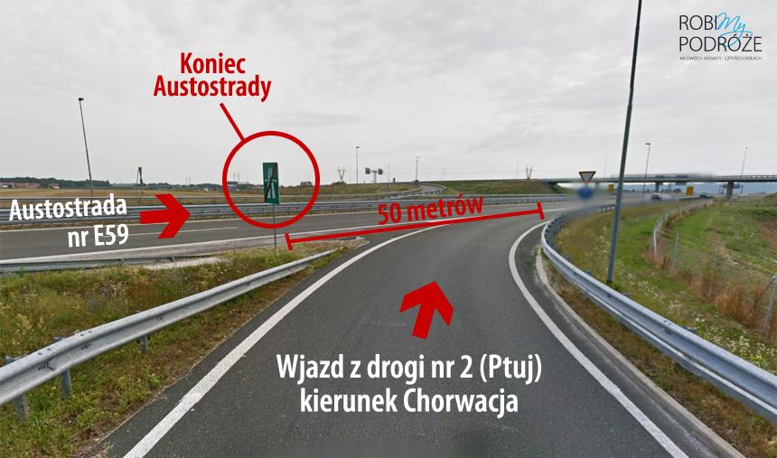 Wjazd na autostradę w Słowenii
