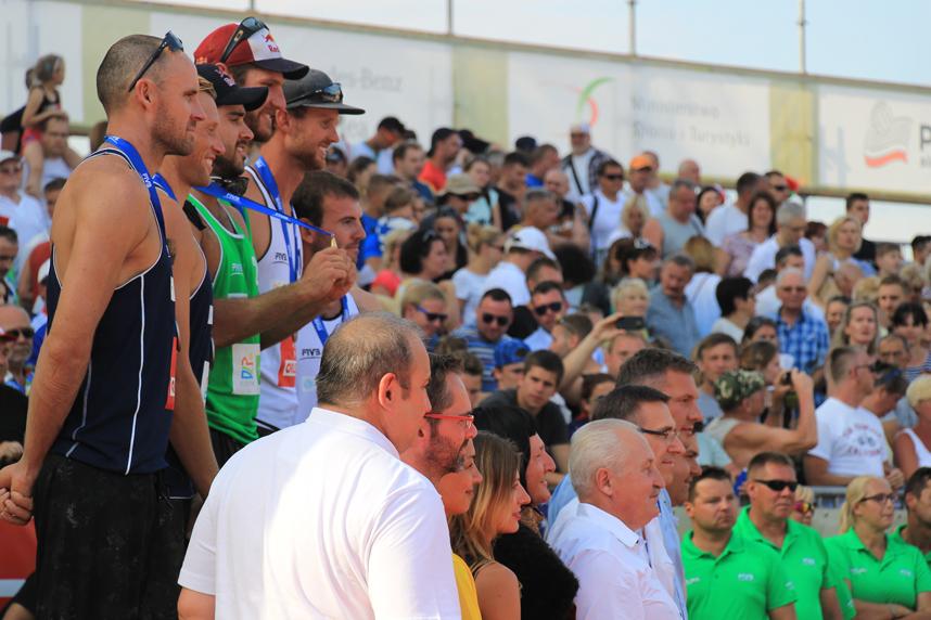 podium FIVB Grand Slam Olsztyn