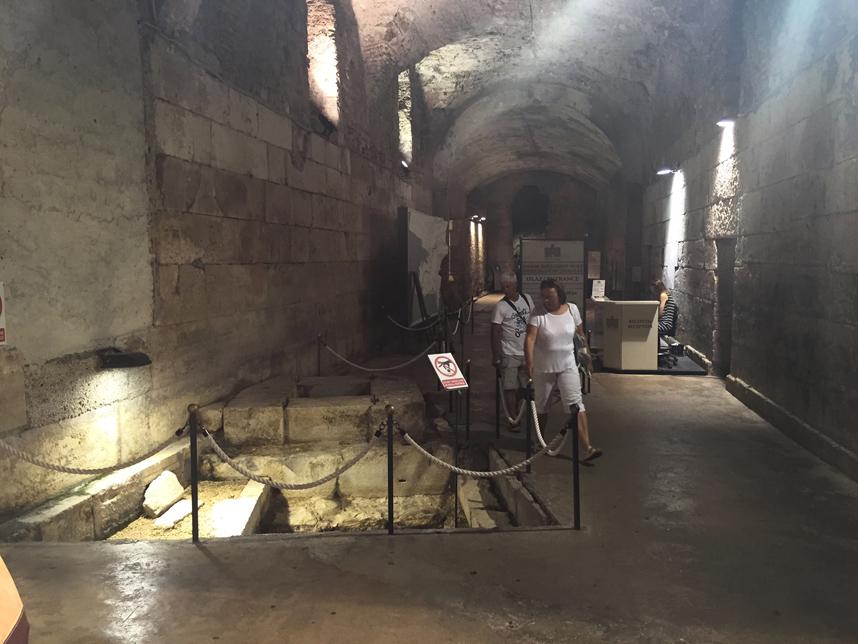 podziemia Pałacu Dioklecjana Split