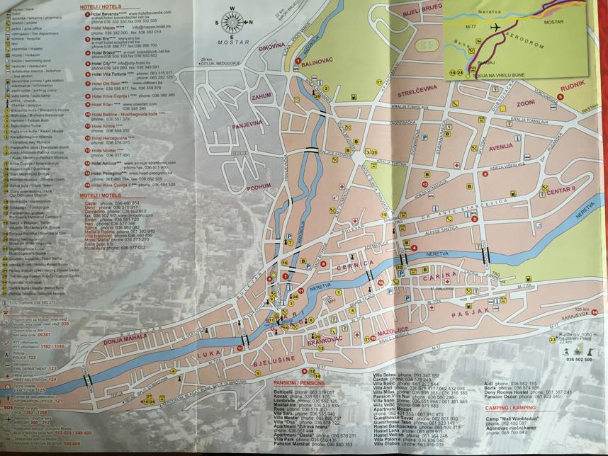 mostar mapa