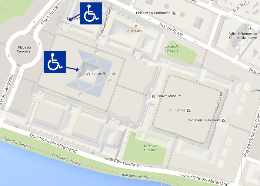 wejście dla niepełnosprawny do Luwru