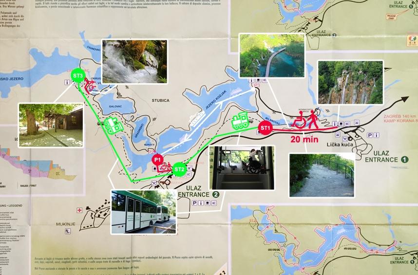 mapa jezior plitwickich dla niepełnosprawnych