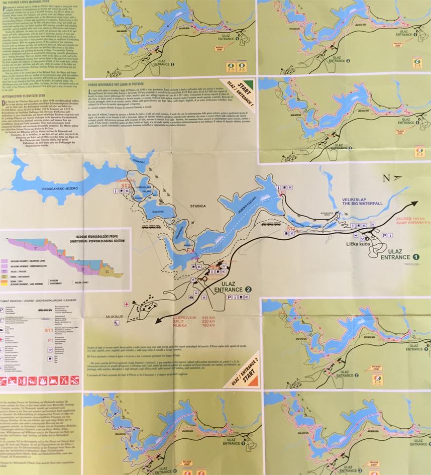 trasy Jezior Plitwickich