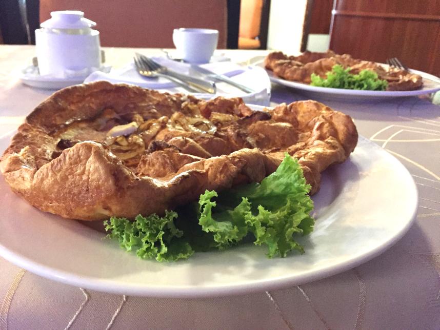 omlet na śniadanie w Kaliningradzie