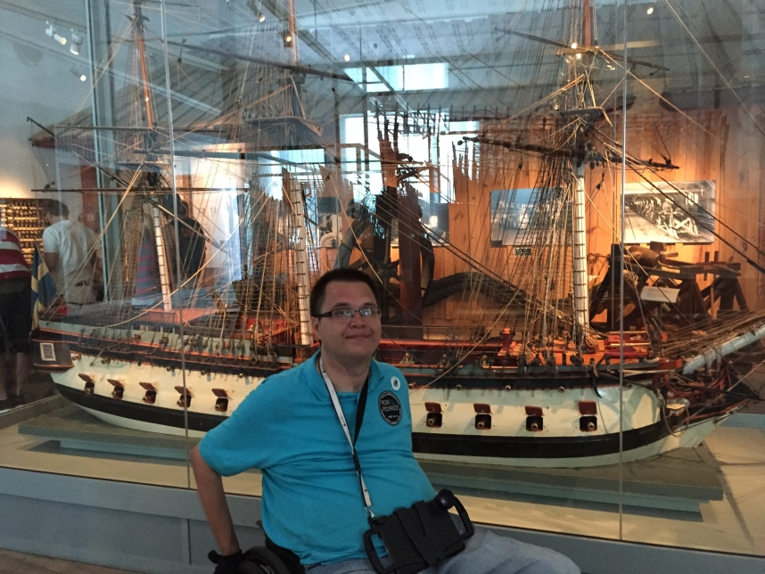 Kamil w Muzeum Morskim