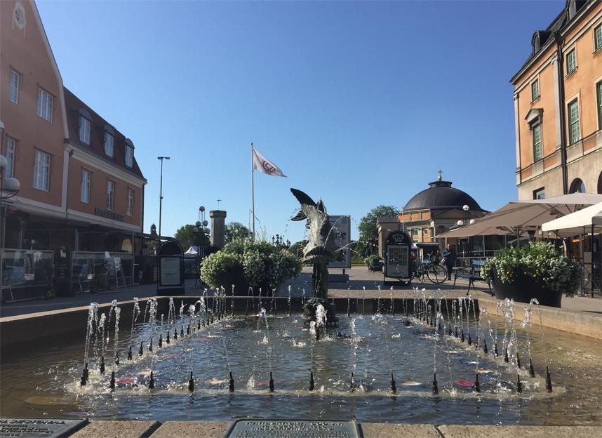 Karlskrona fontanna ryba