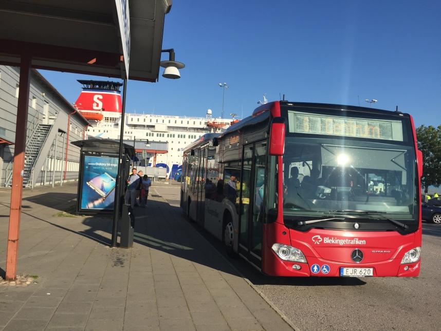 Karlskrona terminal promowy autobus