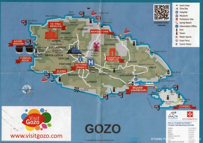 mapa Gozo