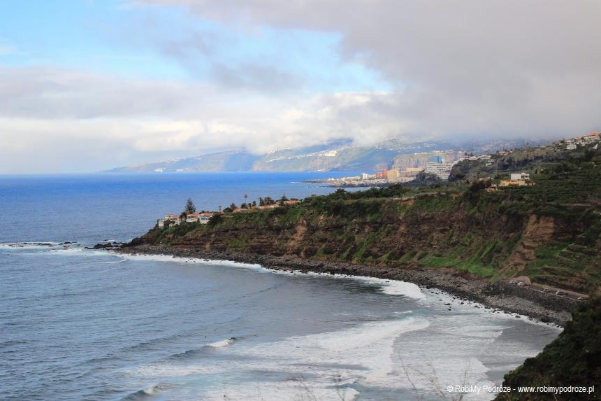 Wybrzeże Teneryfy w styczniu