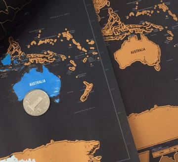 prezent dla podróżującej pary - mapa świata