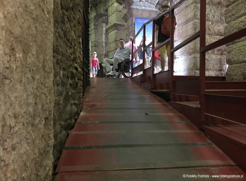 Arena Werona podjazd