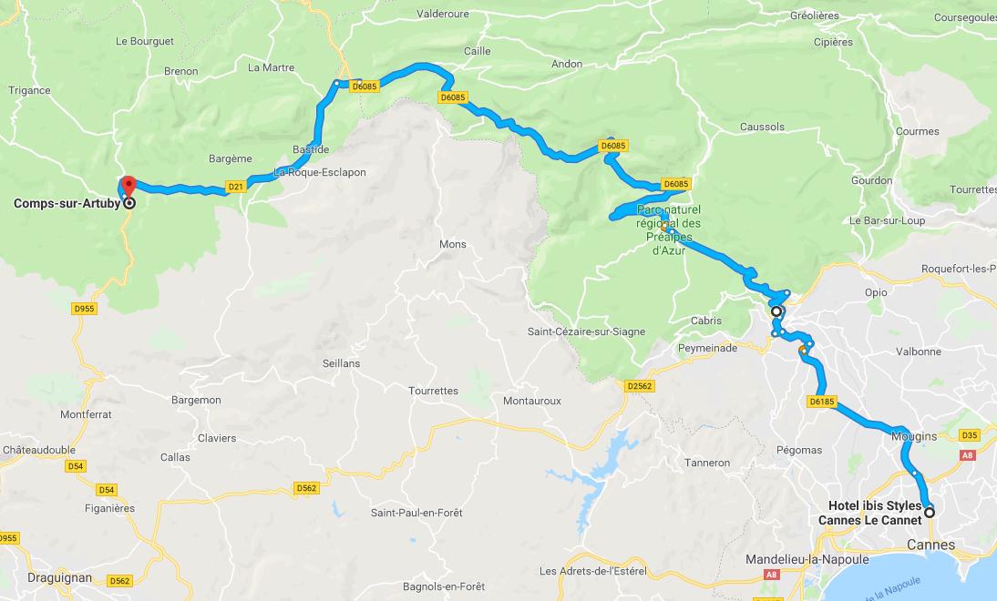 Jak dojechać na Kanion Verdon