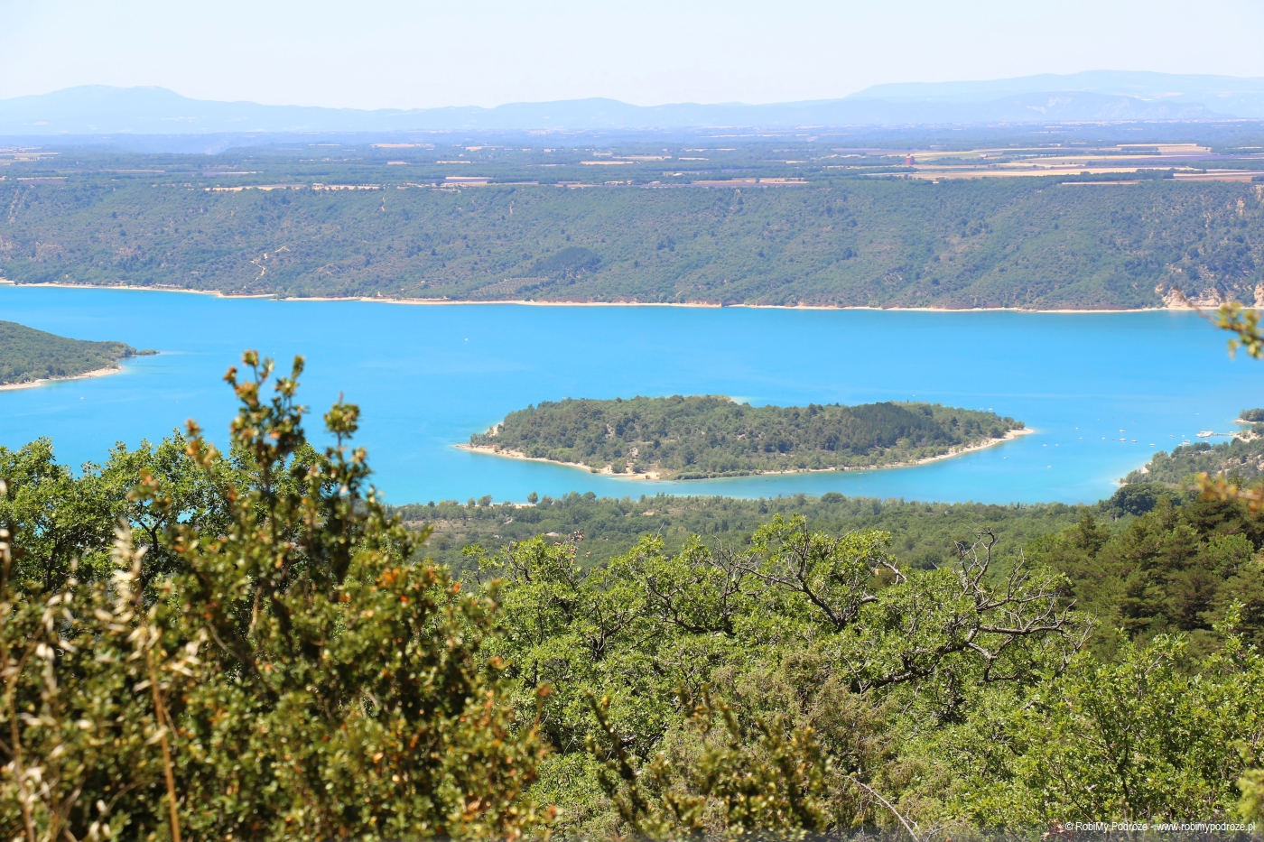 Widok na jezioro Sainte-Croix