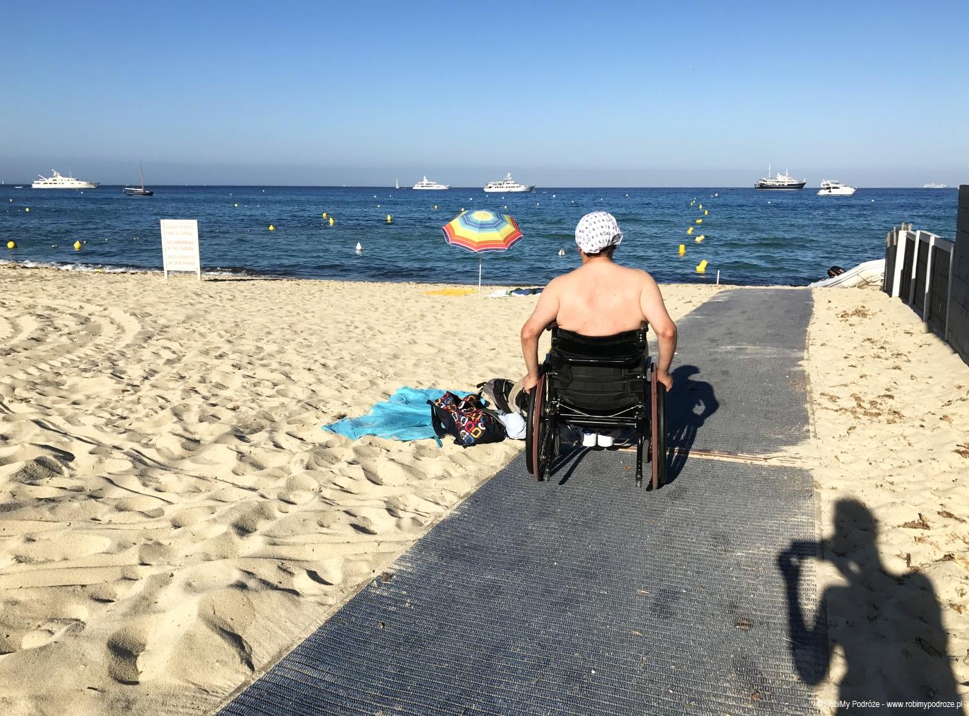 plaża w Saint-Tropez