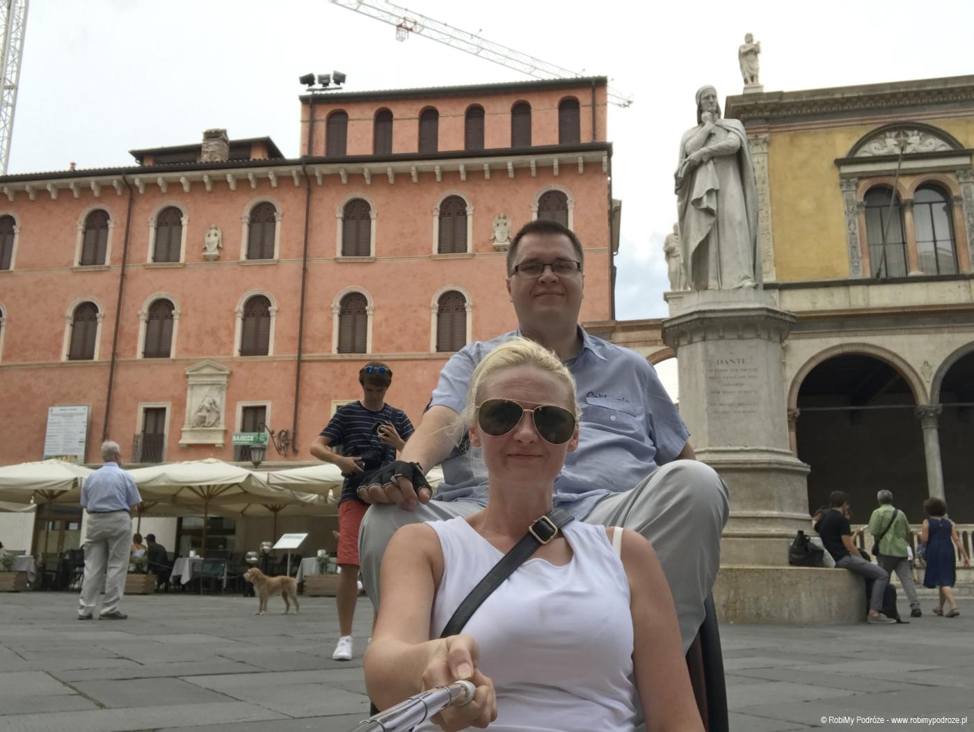 pomnik Dantego w Weronie i my