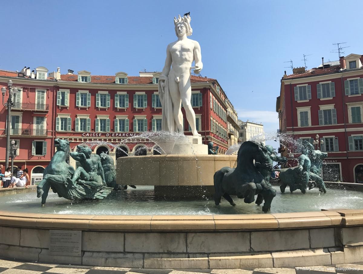 Fontanna Słońca w Nicei