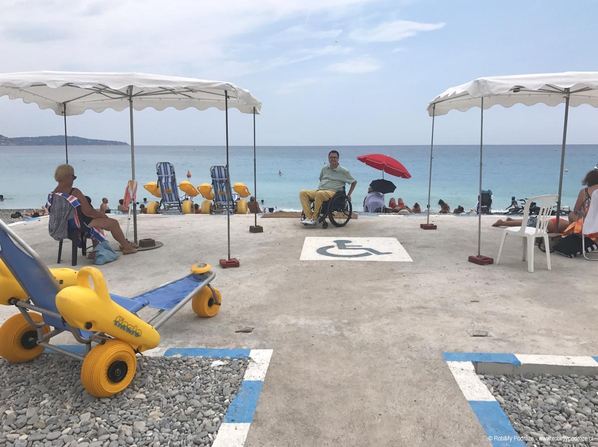 plaża dla niepełnosprawnych w Nicei