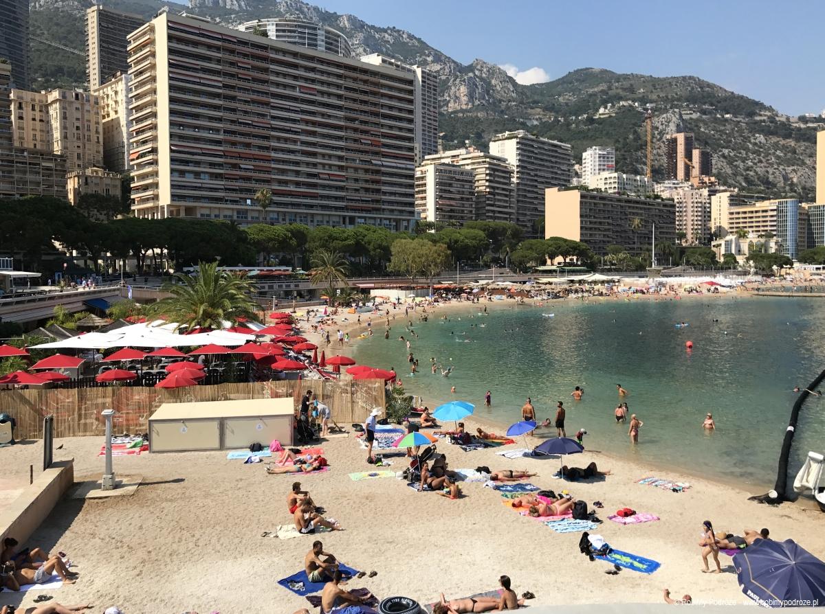 plaża w Monako