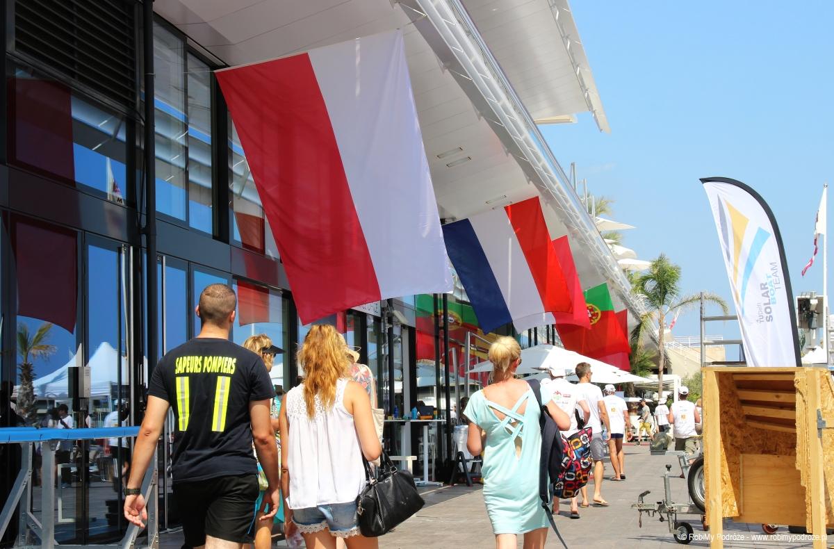 polska flaga w Monako