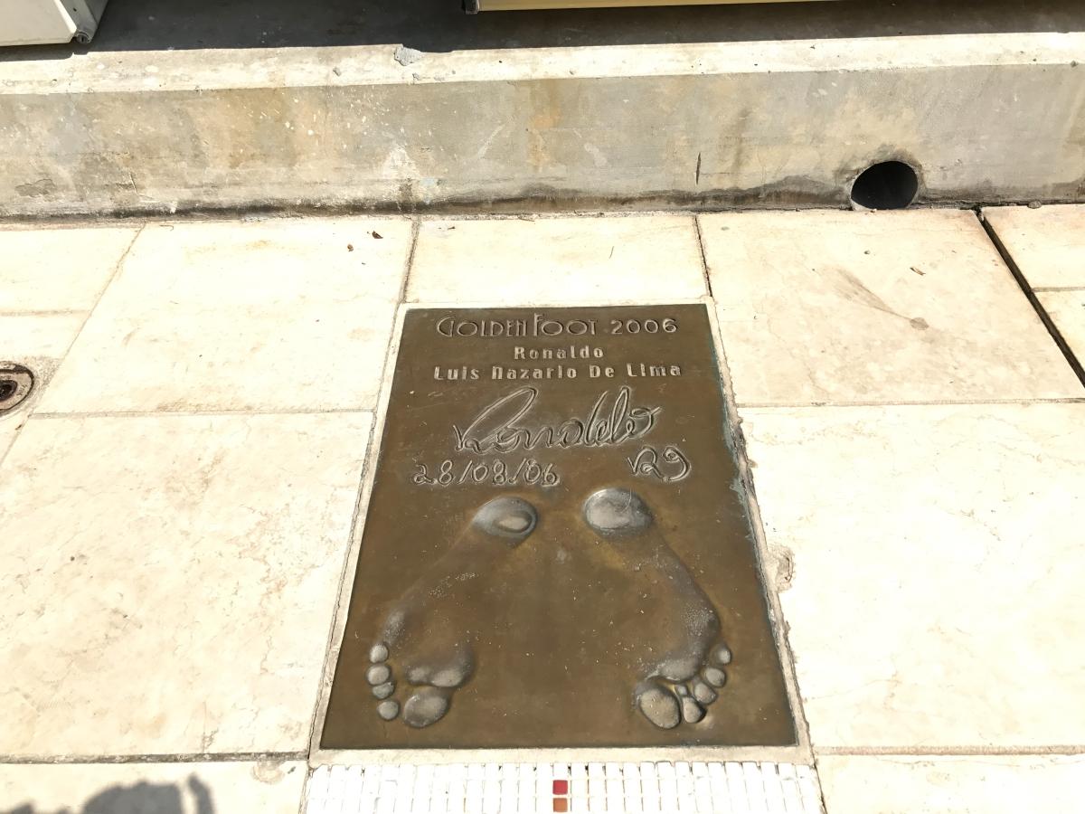 stopa Ronaldo w Monako