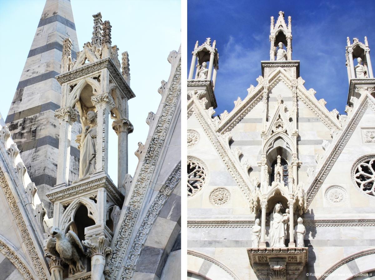 detale zzewnątrz kościoła Santa Maria della Spina