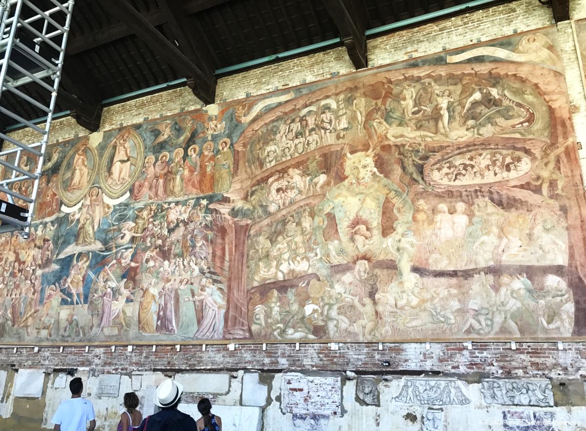 jeden dzień wPizie - freski wCamposanto Monumentale