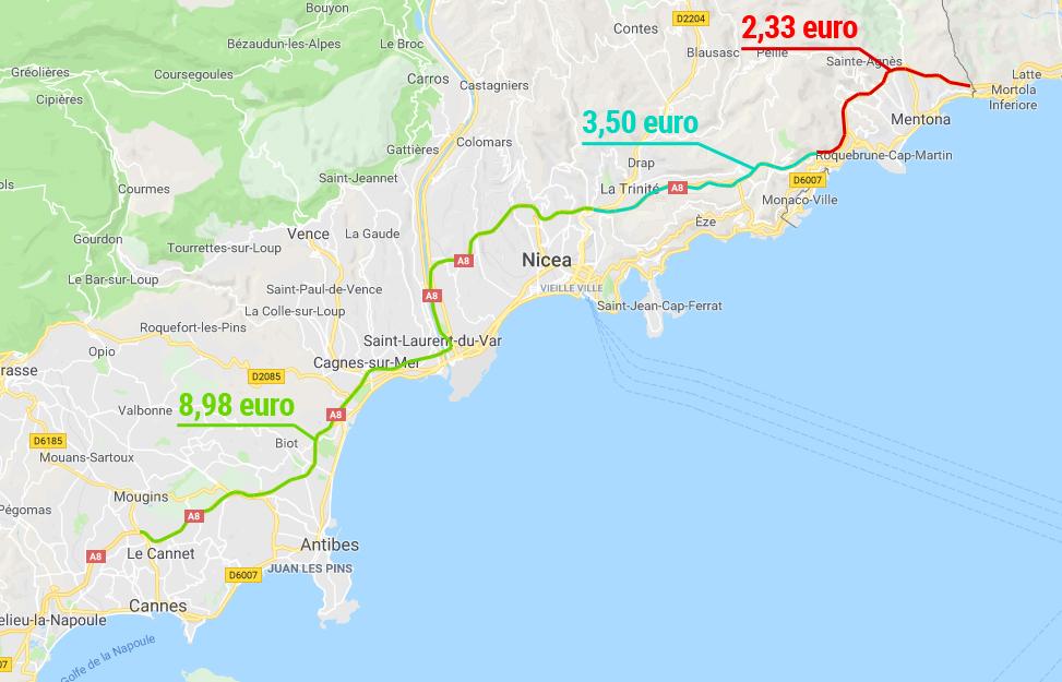 ile kosztują autostrady naLazurowym Wybrzeżu