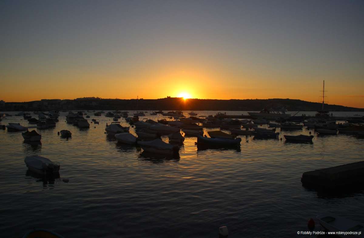 zachód słońca naMalcie