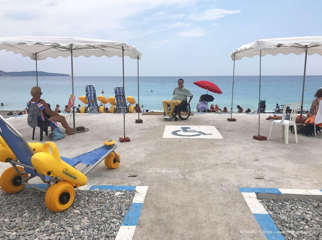 plaża dla niepełnosprawnych Nicea
