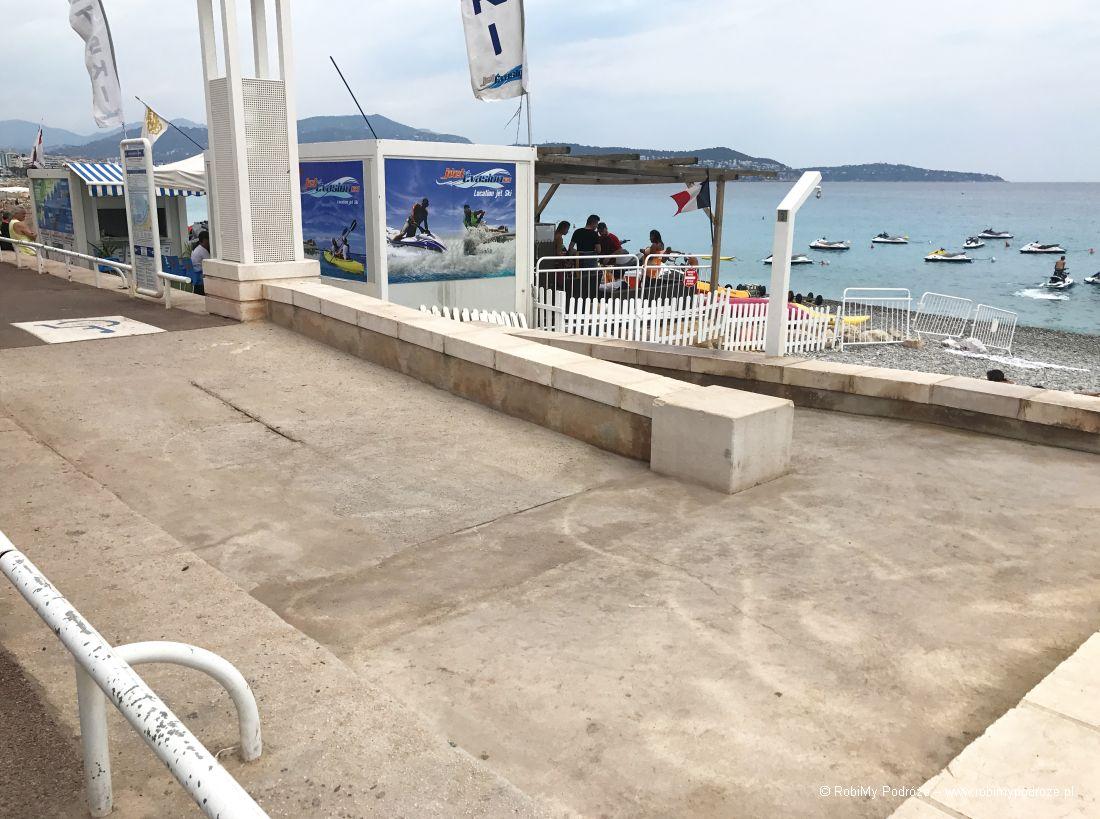 plaża dla niepełnosprawnych - podjazd