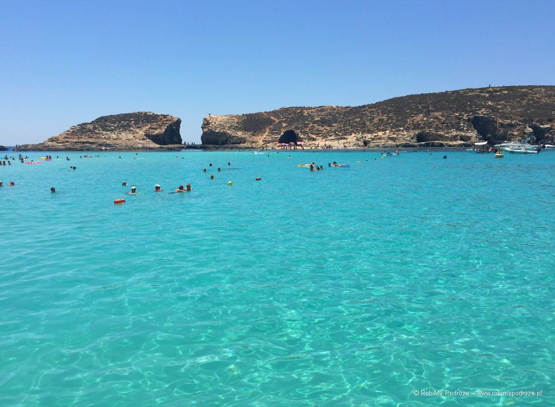 plaże naMalcie - Blue Lagoon naComino