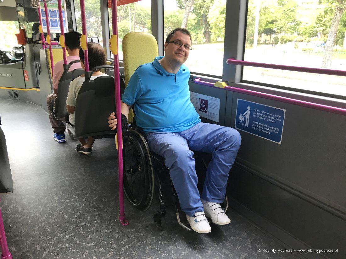 Singapur dla niepełnosprawnych - autobusy
