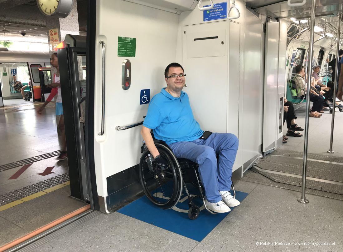 Singapur dla niepełnosprawnych - metro