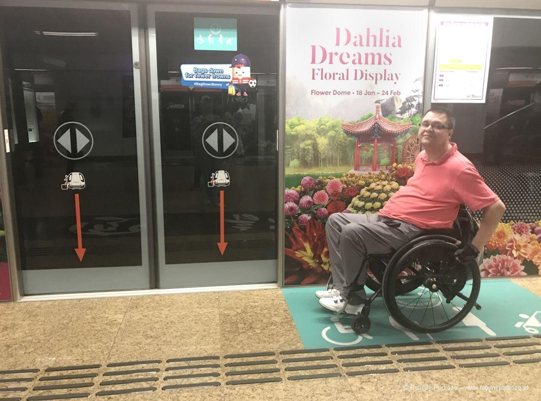 metro wSingapurze dla niepełnosprawnych
