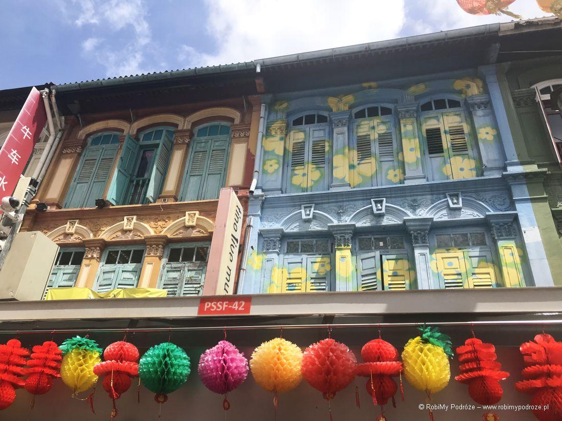 kolonialne budynki - dzień wSingapurze
