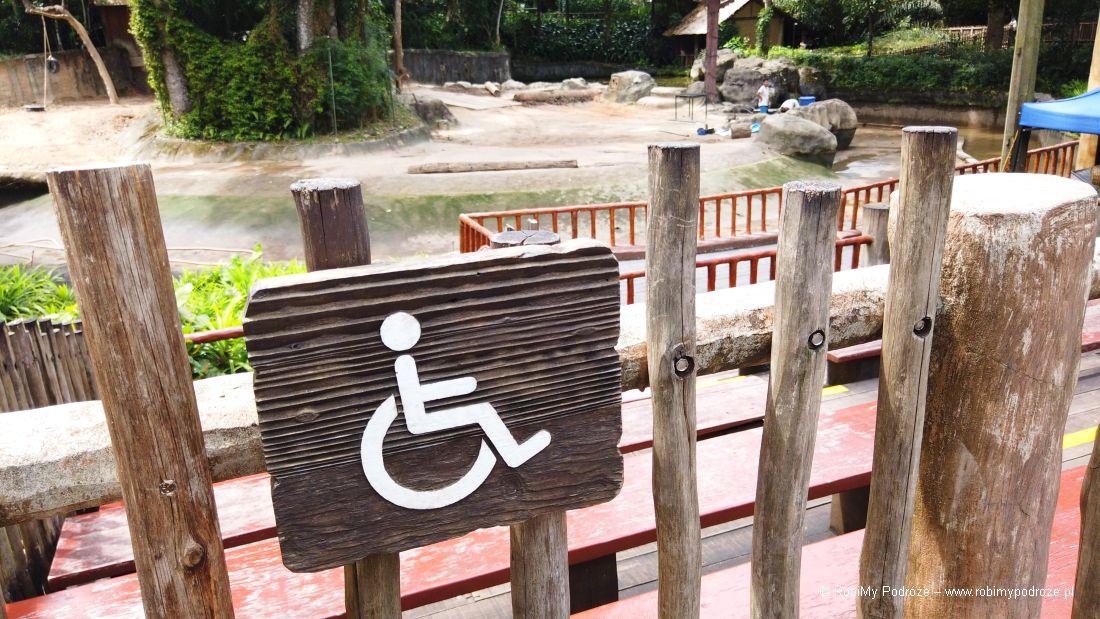 zoo wSingapurze dla niepełnosprawnych