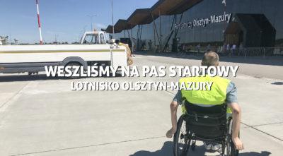 Lotnisko Olsztyn - Mazury. Weszliśmy na pas startowy