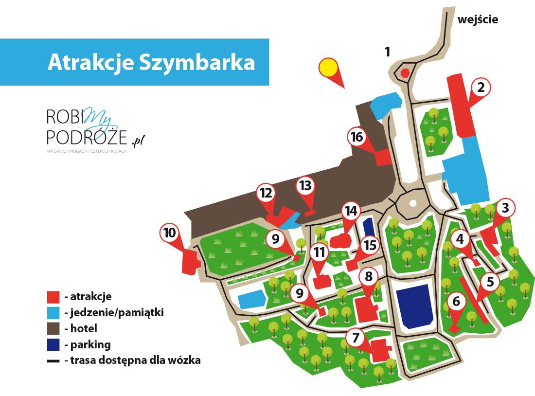 atrakcje Szymbarka mapa