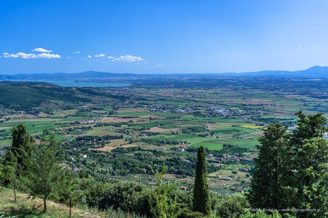 Cortona - widok zewzgórza
