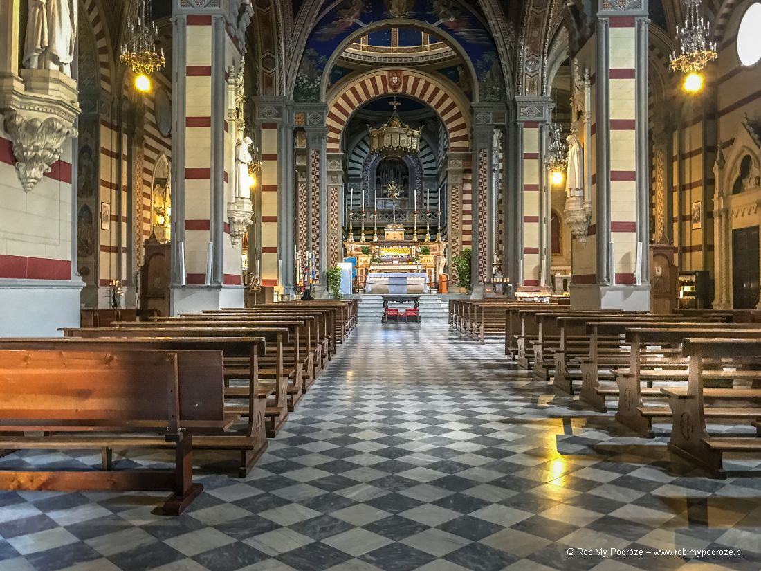 basilica Santa Margherita - wnętrze bazyliki