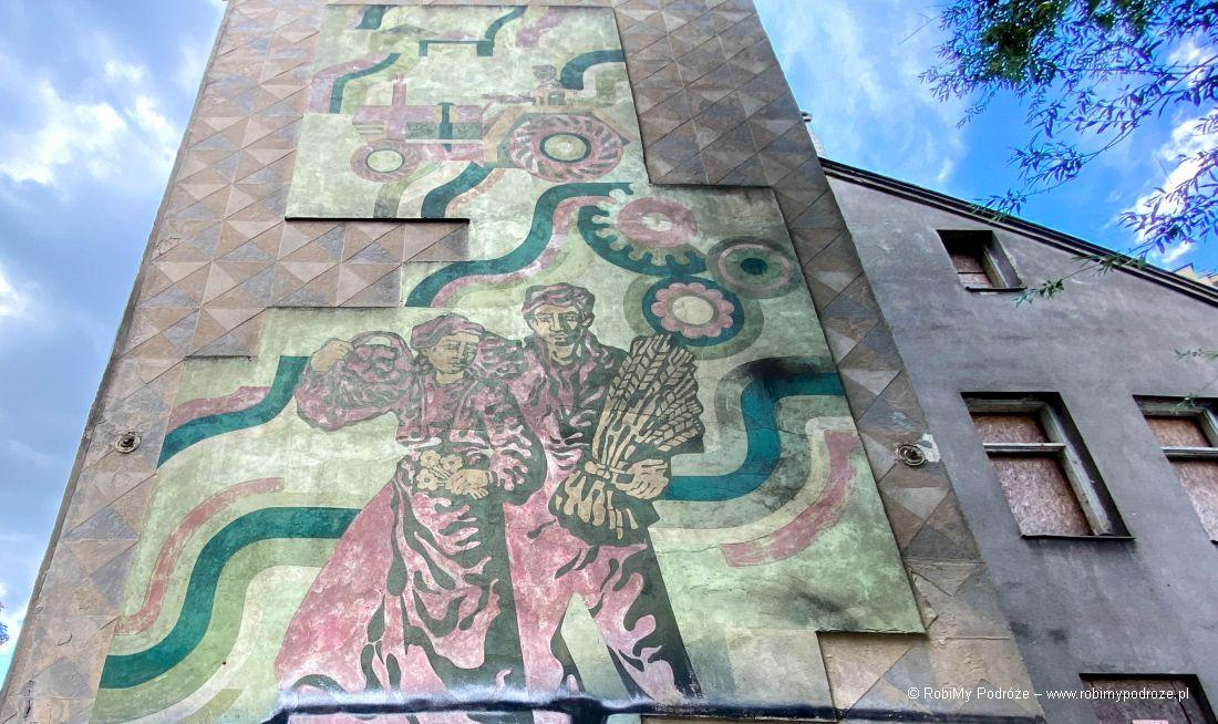 Mural zlat 70-tych wBiałymstoku