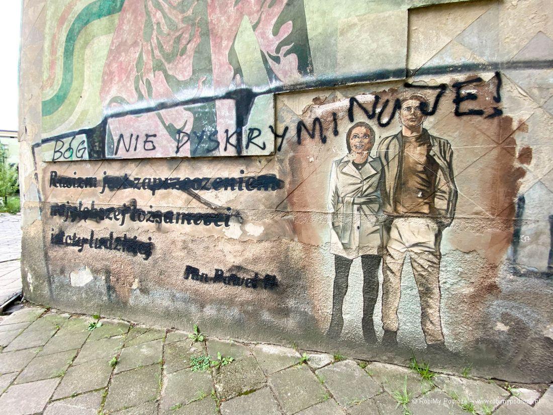 białostockie murale przy Piłsudkiego