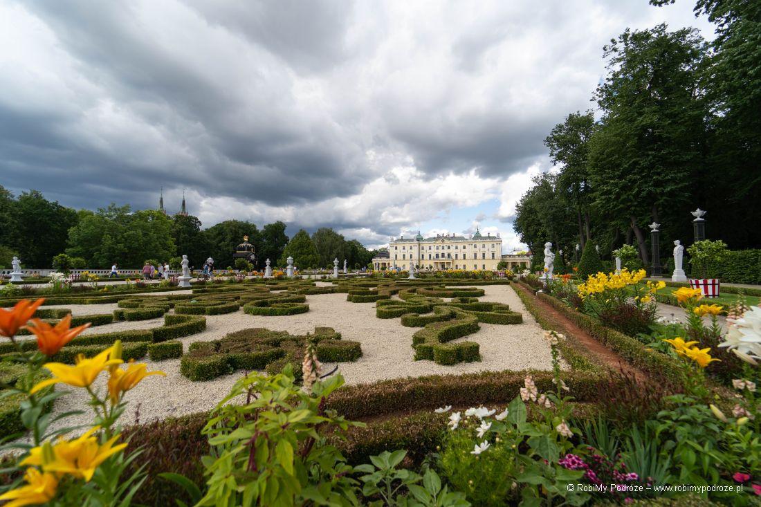 ogrody francuskie wPałacu Branickich