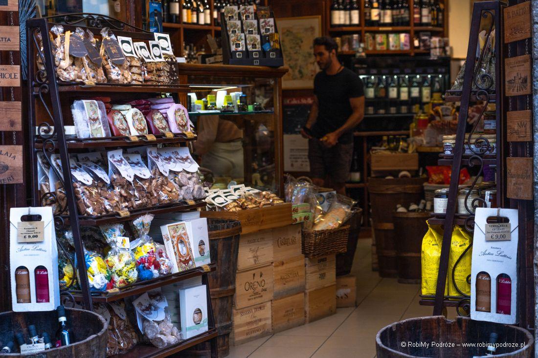 sklepy wSan Gimignano